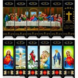 Asian Folding Screen, 6-Panel, Table Top, - The Last Supper