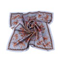 100% Silk Scarf, Petite Square, Charmeuse, Eternal Paradise, Powder Blue