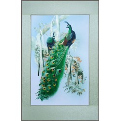 Grace Art, Large Asian Silk Embroidery Art Wall Hanging, Peacocks In Tree