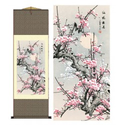 Grace Art Asian Wall Scroll, Plum Blossom