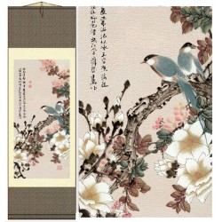 Grace Art Asian Wall Scroll, Birds In Spring