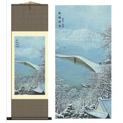 Grace Art Asian Wall Scroll, West Lake In Winter