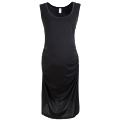 Sleeveless Maternity Dress, Black